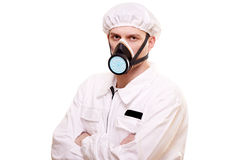 Homme dans l'usure protectrice images stock