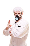 Homme dans l'usure protectrice photographie stock