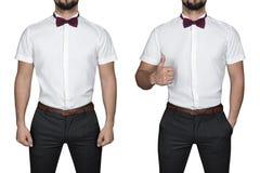Homme dans la chemise Photos libres de droits