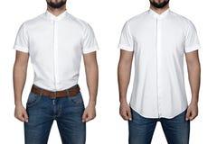 Homme dans la chemise Photos stock