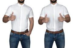 Homme dans la chemise Images stock