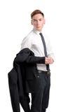 Homme dans la chemise blanche Photos libres de droits