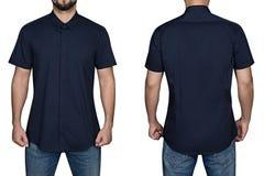 Homme dans la chemise bleue Photographie stock libre de droits