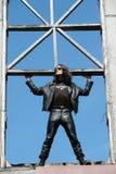 Homme dans la conception noire et fantastique Image stock