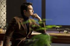 Homme dans la méditation Photographie stock libre de droits