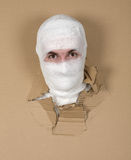Homme dans la momie de costume photographie stock