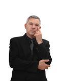 Homme dans la pose pensive Images stock