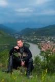 Homme dans la robe nationale géorgienne Images libres de droits