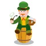 Homme dans le bar irlandais Jour de St Patrick s Image libre de droits