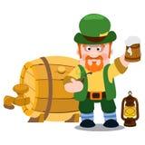 Homme dans le bar irlandais Jour de St Patrick s Photos libres de droits