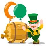 Homme dans le bar irlandais Jour de St Patrick s Photographie stock