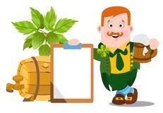 Homme dans le bar irlandais Jour de St Patrick s Photographie stock libre de droits