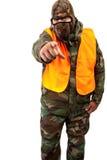 Homme dans le camouflage Photographie stock libre de droits