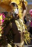 Homme dans le carnaval Londres de nottinghill de costume Image libre de droits
