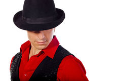 Homme dans le chapeau Images stock