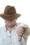 Homme dans le chapeau Photo libre de droits