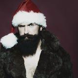 Homme dans le chapeau de nouvelle année Images stock