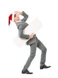 Homme dans le chapeau de Santa Photographie stock libre de droits