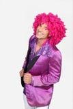 Homme dans le costume de disco Photo stock