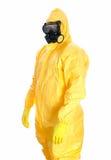 Homme dans le costume protecteur de hazmat. images libres de droits