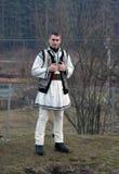 Homme dans le costume roumain traditionnel photo libre de droits