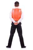 Homme dans le gilet de sauvetage Photographie stock libre de droits