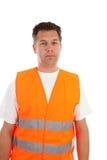 Homme dans le gilet de sécurité Photos stock