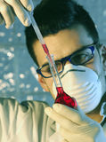 Homme dans le laboratoire Image stock