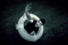 Homme dans le maître nageur Image libre de droits