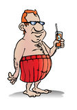 Homme dans le maillot de bain Photographie stock libre de droits