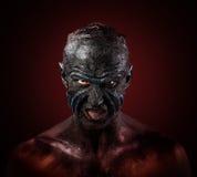 Homme dans le maquillage de monstre photos stock