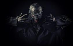 Homme dans le maquillage de monstre images libres de droits