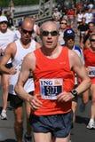 Homme dans le marathon d'Ottawa Images libres de droits