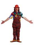Homme dans le procès du clown Photographie stock libre de droits