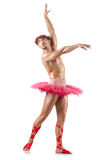 Homme dans le tutu de ballet Photographie stock libre de droits