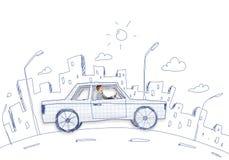Homme dans le véhicule Image stock