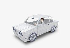 Homme dans le véhicule Photo stock