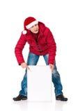 Homme dans le vêtement de l'hiver Image stock