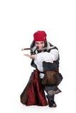 Homme dans le vêtement de mascarade Photographie stock libre de droits