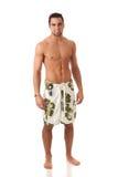 Homme dans les vêtements de bain Photo libre de droits
