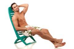 Homme dans les vêtements de bain Photographie stock