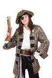 Homme dans un costume de pirate image stock