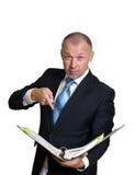 Homme dans un procès d'affaires photos stock