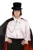 Homme dans un procès de compte Dracula photo stock