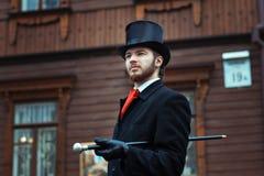 Homme dans un rétro style Photographie stock libre de droits