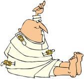 Homme dans une jupe droite illustration stock