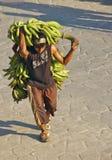 Homme de banane, Colombie Photographie stock