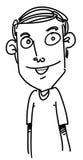 Homme de bande dessinée illustration libre de droits