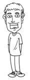 Homme de bande dessinée illustration de vecteur