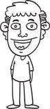 Homme de bande dessinée de croquis Photographie stock libre de droits